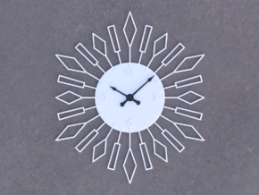 Sunburst Clock - Beverly in White Natural Versatile Plastic