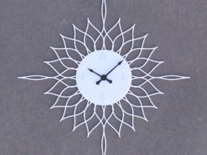 Sunburst Clock - Willow in White Natural Versatile Plastic