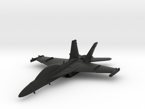 Boeing EA-18G Growler in Black Natural Versatile Plastic