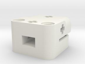 Tophat-Halterung in White Natural Versatile Plastic