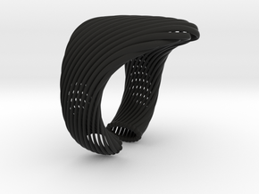 Marika bracelet - Kukla collection in Black Natural Versatile Plastic