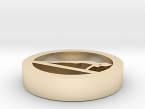 1a (1) in 14k Gold Plated Brass