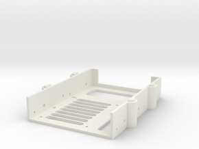 "Stackable 2.5"" and 3.5"" Hard Drive Caddy in White Natural Versatile Plastic"