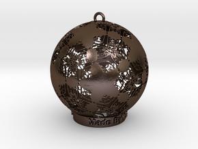 Filgree Palm Ornament in Polished Bronze Steel