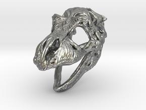 TRexSkull Pendant in Natural Silver