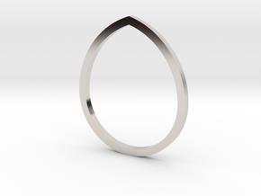 Drop 13.61mm in Rhodium Plated Brass