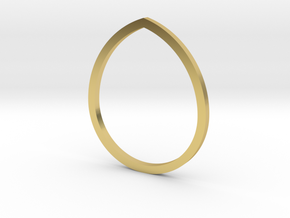 Drop 14.05mm in Polished Brass