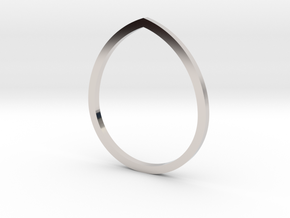 Drop 14.36mm in Rhodium Plated Brass