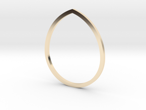 Drop 16.92mm in 14K Yellow Gold