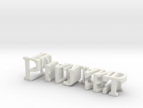 3dWordFlip: Phuket/Thailand in White Natural Versatile Plastic