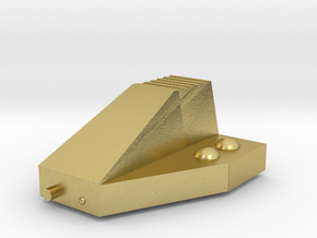 Ferret Tiny Grav Assault Sled Skids Up 15mm in Natural Brass