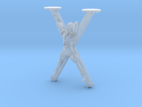 Skinny man Crucified - 28 mm to the eye in Smoothest Fine Detail Plastic