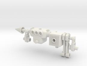Microbike Microtron in White Natural Versatile Plastic