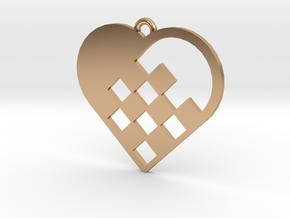 Swedish Heart Necklace in Polished Bronze
