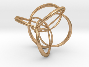 16-cell, stereographic projection, thick edges in Natural Bronze