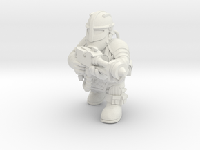 Space Dwarf Flamer in White Natural Versatile Plastic