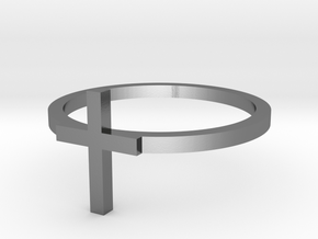Cross 13.21mm in Polished Silver
