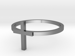 Cross 14.05mm in Polished Silver