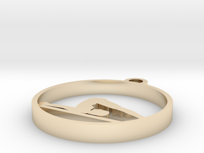 035yoga in 14k Gold Plated Brass