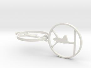 yoga earring medium in White Natural Versatile Plastic