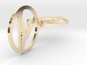 04yoga  in 14k Gold Plated Brass