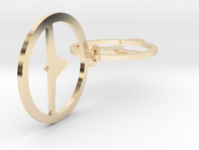 0151yoga in 14k Gold Plated Brass
