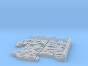 Small Corner Dungeon Tile in Smooth Fine Detail Plastic