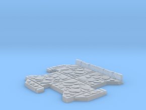 Small 3 way Dungeon Tile in Smooth Fine Detail Plastic