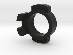 WPL Front Track Adaptor - Fixed version in Black Natural Versatile Plastic