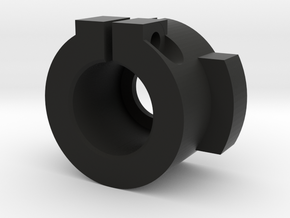 WPL Rear Track Adaptor - Fixed version in Black Natural Versatile Plastic