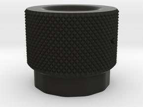 knob gnurled in Black Premium Versatile Plastic