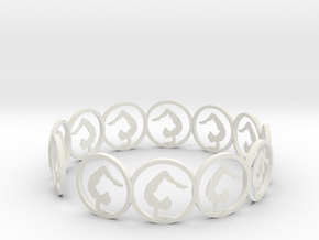 yoga bracelet in White Natural Versatile Plastic
