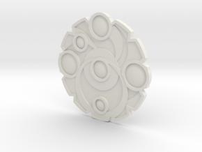 Keyforge Key (Reverse) in White Natural Versatile Plastic