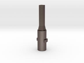 Integrated door lock adapter for August Door Lock in Polished Bronzed-Silver Steel