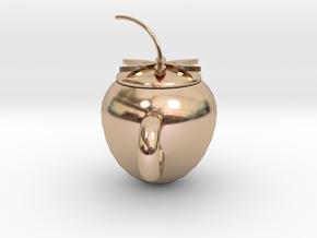 strawberry cup in 14k Rose Gold Plated Brass