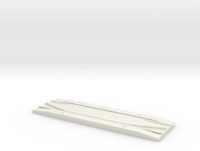 OO/HOCode 75 track rerailer in White Natural Versatile Plastic