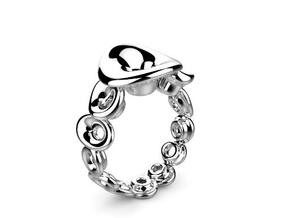 Ring Mo-At  Easy Avatar (From $14) in Polished Silver: 6 / 51.5