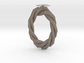 Graptoveria Ring in Matte Bronzed-Silver Steel