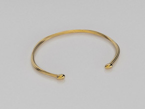 Rope cuff bracelet in 14K Yellow Gold