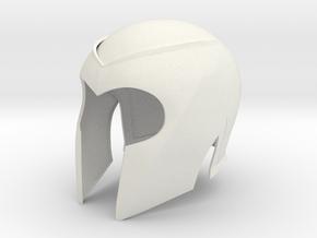 "Magneto X-men 1 helmet 1/6 th scale for 12"" figure in White Natural Versatile Plastic"