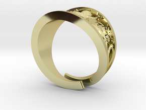 Emboss Ring - 2 in 18k Gold Plated Brass