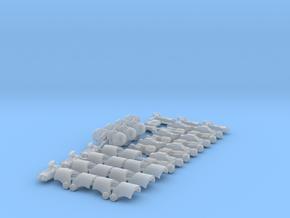 Dark Battle Bucketheads (x7) in Smoothest Fine Detail Plastic