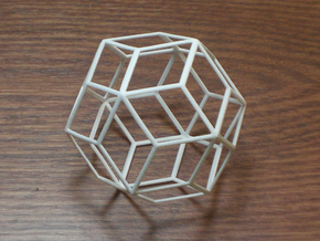 Rhombic Triacontahedron in White Natural Versatile Plastic