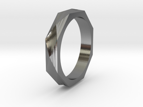Facet 13.21mm in Polished Silver
