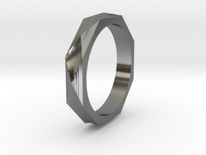 Facet 14.05mm in Polished Silver