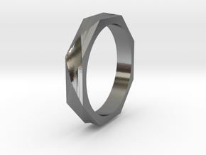 Facet 14.56mm in Polished Silver