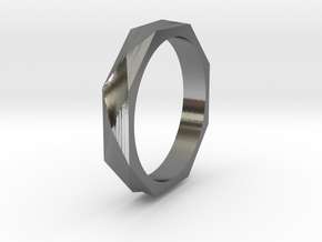 Facet 16.00mm in Polished Silver