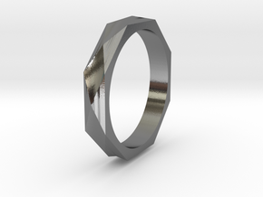 Facet 16.92mm in Polished Silver