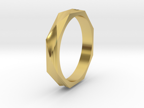 Facet 19.41mm in Polished Brass