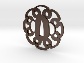 Tsuba washers  in Polished Bronze Steel